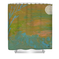 Moonlight In The Wild Shower Curtain