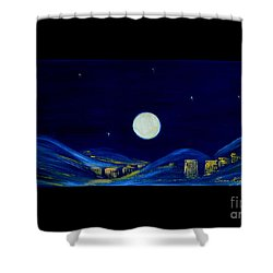 Moonlight. Winter Collection Shower Curtain