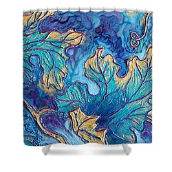 Shower Curtain featuring the painting Moonlight On The Vine by Sandi Whetzel