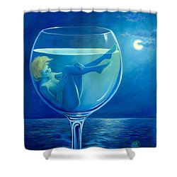 Moonlight Rendezvous Shower Curtain by Sandi Whetzel