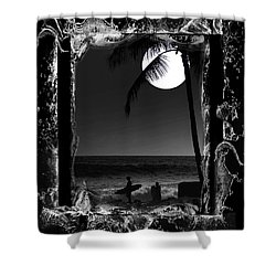 Moonlight Surf Shower Curtain
