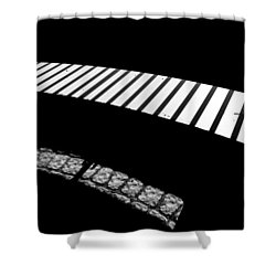 Moonlight Under The Highway Shower Curtain by Bob Orsillo