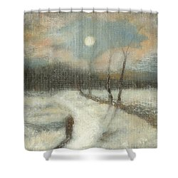 Moonlight Walk Home Shower Curtain
