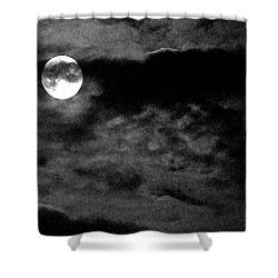 Moonlit Clouds Shower Curtain