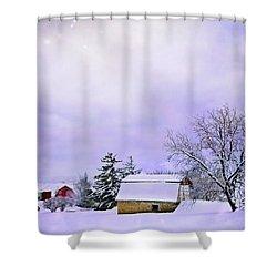 Moonlit Farm Shower Curtain