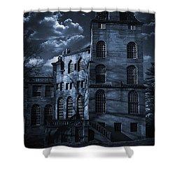 Moonlit Fonthill Shower Curtain