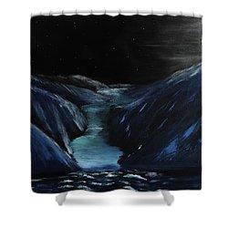Moonlit Glacier Shower Curtain