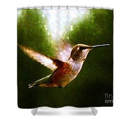 Moonlit Iridescence  Shower Curtain
