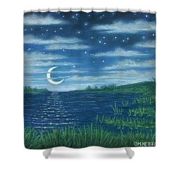 Moonlit Lagoon Shower Curtain