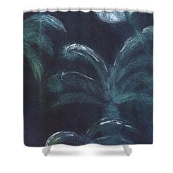 Moonlit Palms Shower Curtain by Mickey Krause