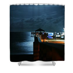 Moonlit Pier Shower Curtain