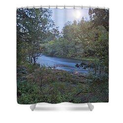 Moonlit River Shower Curtain by Belinda Greb