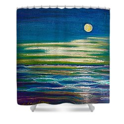Moonlit Tide Shower Curtain