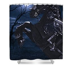 Moonlit Warrior Shower Curtain