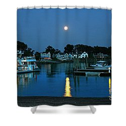 Moonlit Waters - Super Moon 2014 Shower Curtain