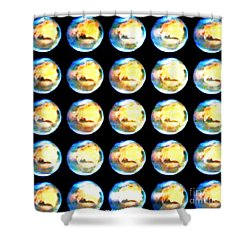 Moonmarbles Shower Curtain by PainterArtist FIN