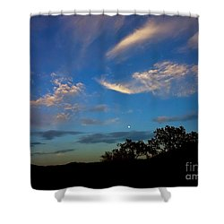 Moonrise Hill Shower Curtain