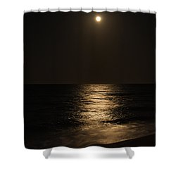 Moon Over Water Shower Curtain