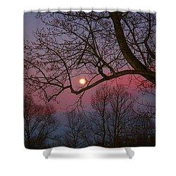 Moonrise Shower Curtain by Kathryn Meyer