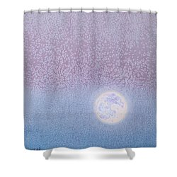 Shower Curtain featuring the painting Moonrise by Margaret Bobb