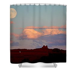 Moonrise Over Goblins Shower Curtain