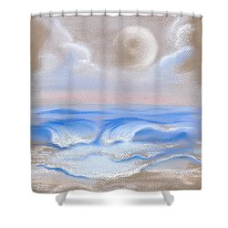 Moonrise Over Myrtle Beach Shower Curtain