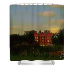 Moonrise - Sunset Shower Curtain by RC DeWinter