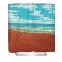 Moonset A Shower Curtain