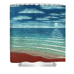 Moonset C Shower Curtain