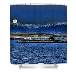 Moonset Over Cooney Shower Curtain