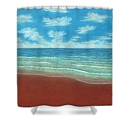 Moonset Triptych Shower Curtain