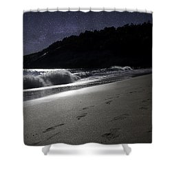 Moonshine Beach Shower Curtain by Brent L Ander