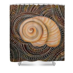 Moonsnail Mandala Shower Curtain