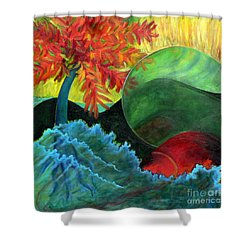 Moonstorm Shower Curtain by Elizabeth Fontaine-Barr