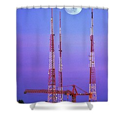 Moontowers Shower Curtain by Benjamin Yeager