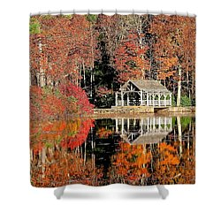 Moore State Park Autumn II Shower Curtain