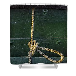 Shower Curtain featuring the photograph Mooring Hitch by Marty Saccone