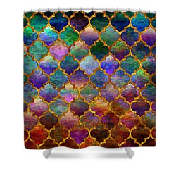 Moorish Mosaic Shower Curtain by Lilia D