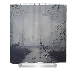 Moose Swanson River Alaska Shower Curtain