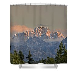 Moose's Tooth Shower Curtain by Kevin G Smith