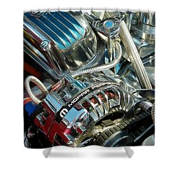 Mopar In Chrome Shower Curtain
