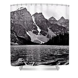 Moraine Lake Shower Curtain by Linda Bianic
