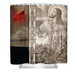 More Prayers For The Nation Shower Curtain by Joe Jake Pratt