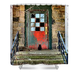 More Than Spirits Shower Curtain by Art Dingo