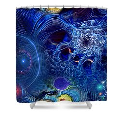 Shower Curtain featuring the digital art More Things In Heaven And Earth by Casey Kotas