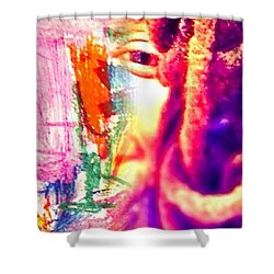 More Thoughts Shower Curtain
