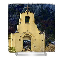 Shower Curtain featuring the photograph Mountain Mission Church by Barbara Chichester
