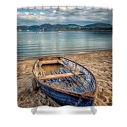 Morfa Nefyn Boat Shower Curtain