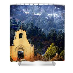 Morley Mission 1917 Colorado Shower Curtain by Barbara Chichester
