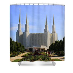 Mormon Temple Dc Shower Curtain